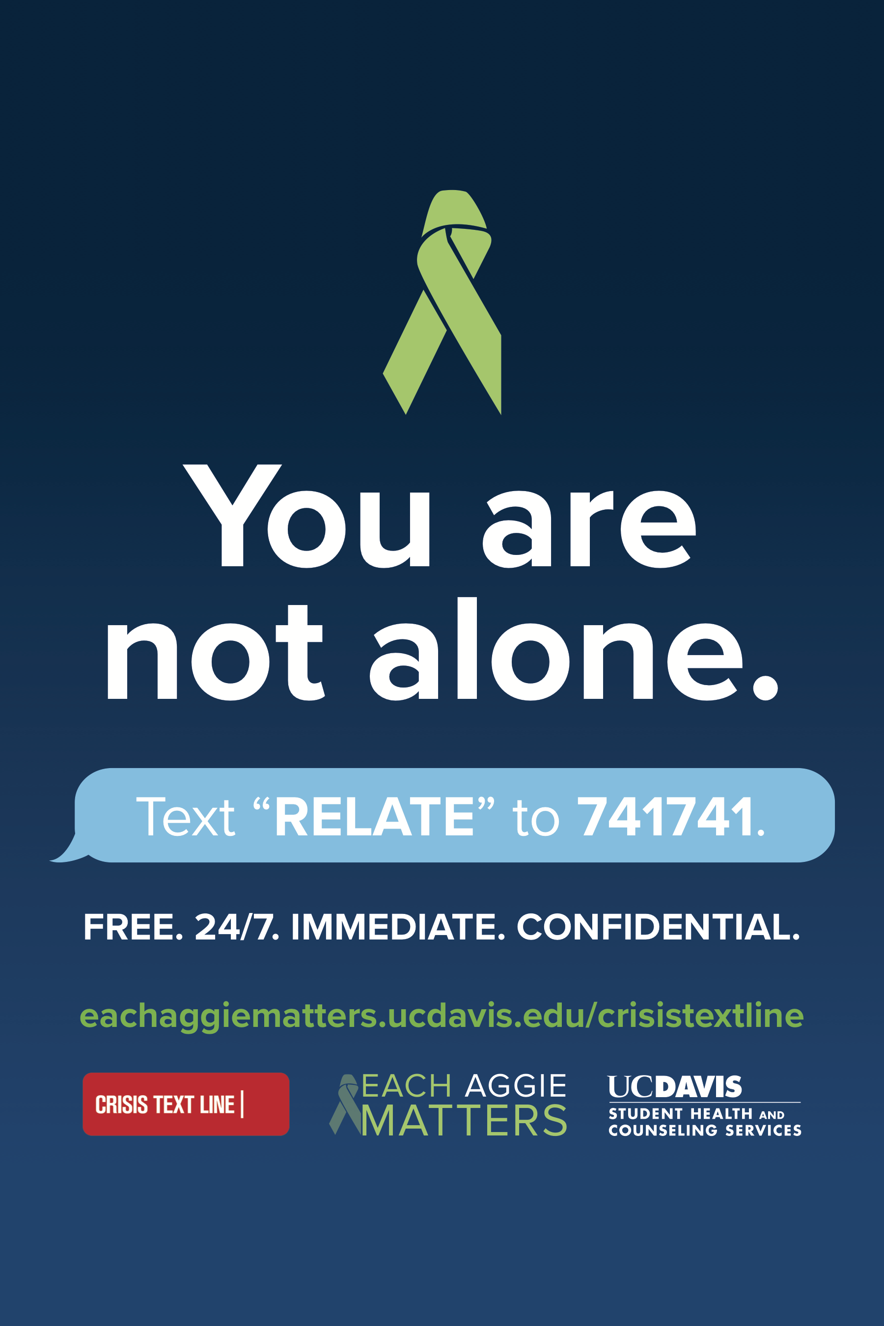 Crisis Text Line Toolkit   Each Aggie Matters